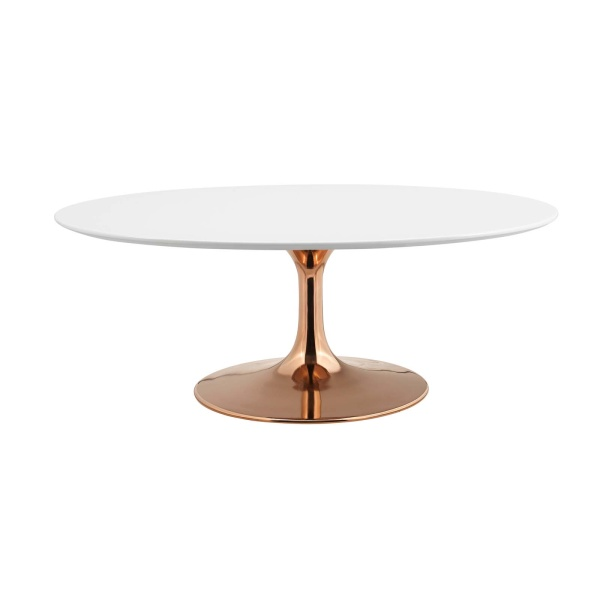 "Lippa 42"" Oval-Shaped Coffee Table"