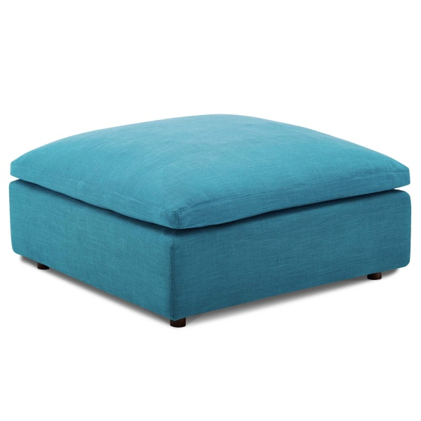Commix Down Filled Overstuffed Ottoman Teal