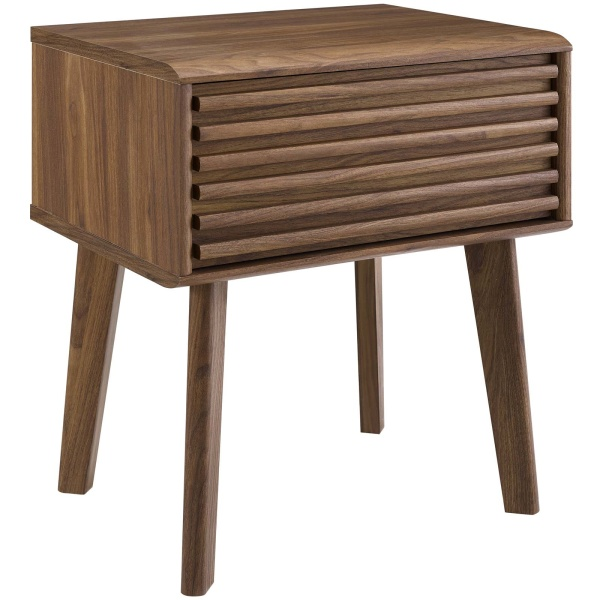EEI-3345-WAL Render End Table Nightstand Walnut