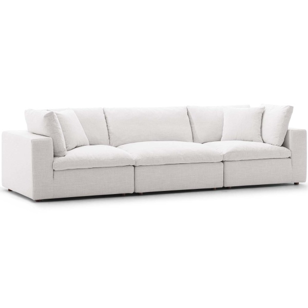EEI-3355-BEI Commix Down Filled Overstuffed 3 Piece Sectional Sofa Set Beige