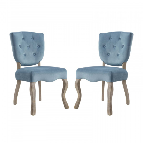 EEI-3381-SEA Array Dining Side Chair Set of 2 Sea Blue