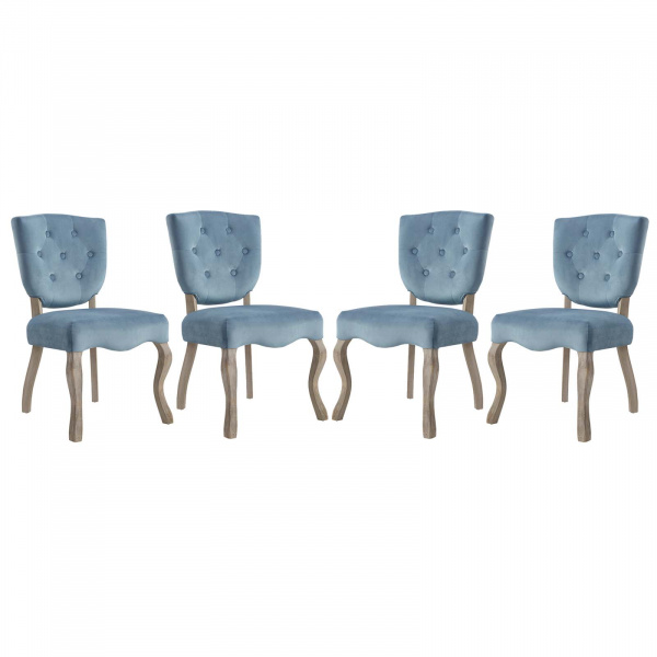 EEI-3382-SEA Array Dining Side Chair Set of 4 Sea Blue