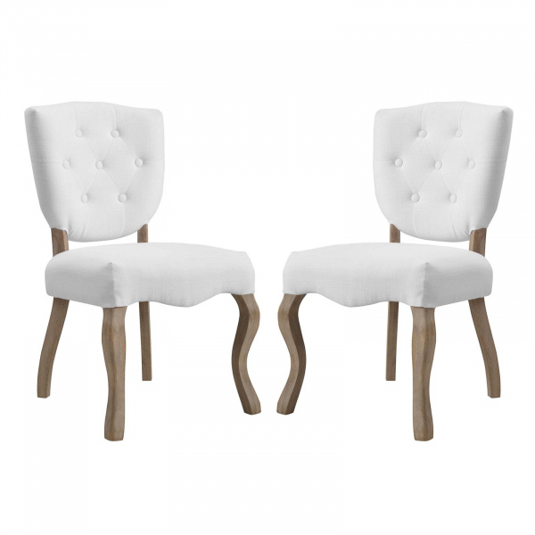 EEI-3383-WHI Array Dining Side Chair Set of 2 White
