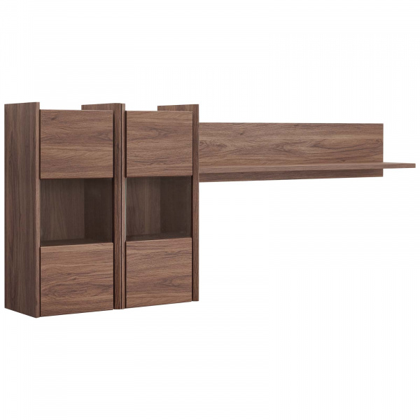 EEI-3436-WAL Visionary Wall Mounted Shelves Walnut