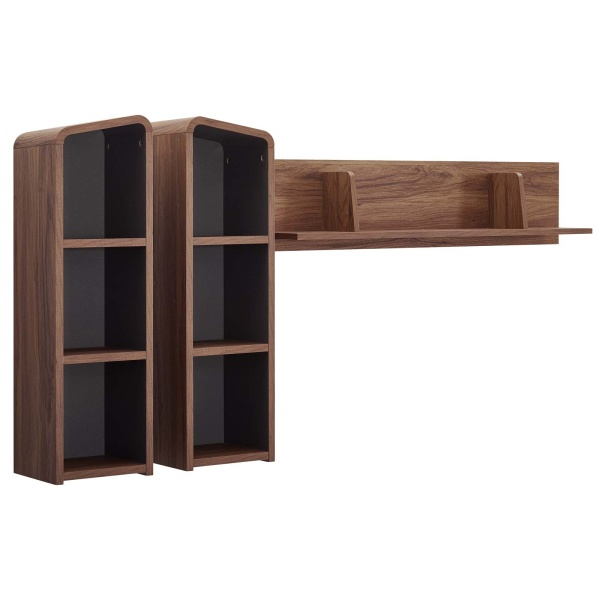 EEI-3438-WAL-GRY Omnistand Wall Mounted Shelves Walnut Gray