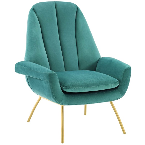 Summit Accent Performance Velvet Armchair Teal