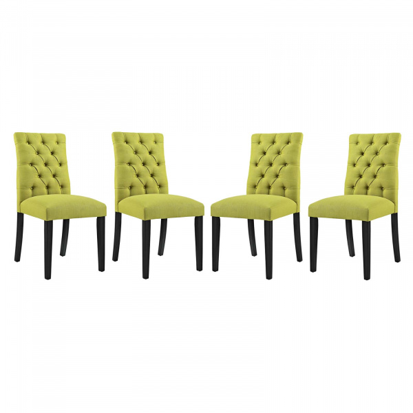 EEI-3475-WHE Duchess Dining Chair Fabric Set of 4 Wheatgrass
