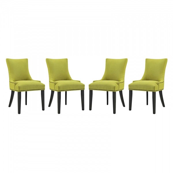 EEI-3497-WHE Marquis Dining Chair Fabric Set of 4 Wheatgrass