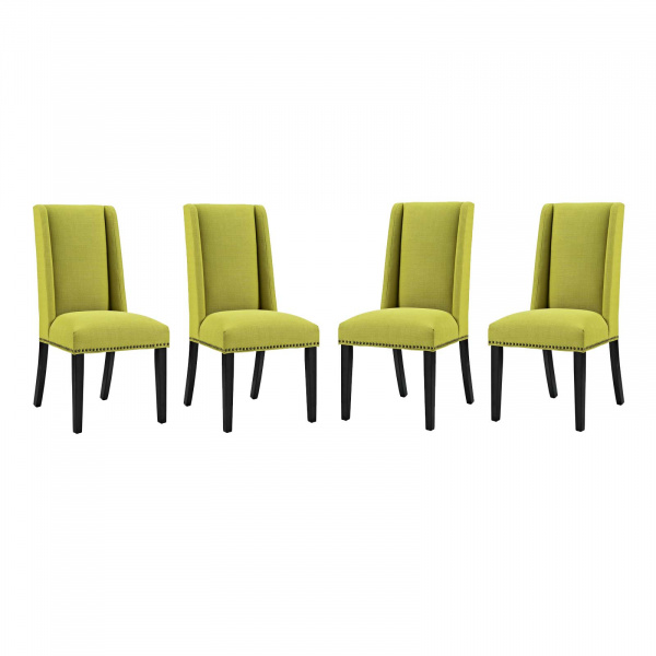 EEI-3503-WHE Baron Dining Chair Fabric Set of 4 Wheatgrass