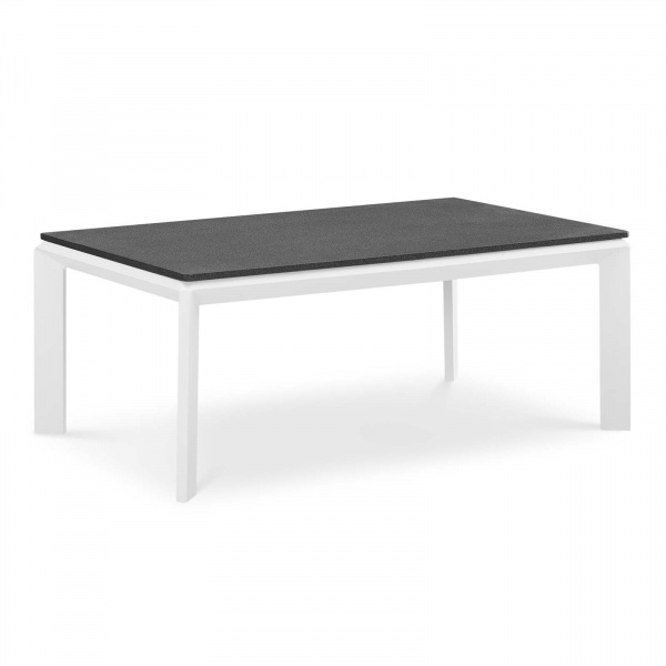 EEI-3570-WHI Riverside Aluminum Outdoor Patio Coffee Table White