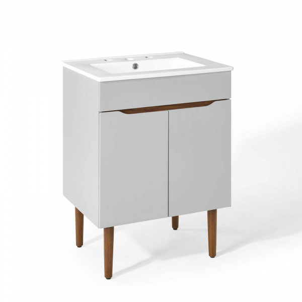 EEI-3633-GRY-WHI Harvest Bathroom Vanity