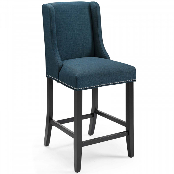 Baron Upholstered Fabric Counter Stool Azure