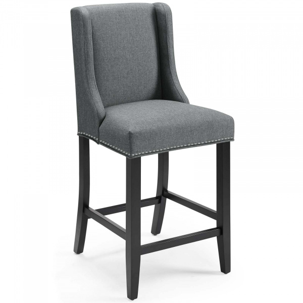 Baron Upholstered Fabric Counter Stool Gray