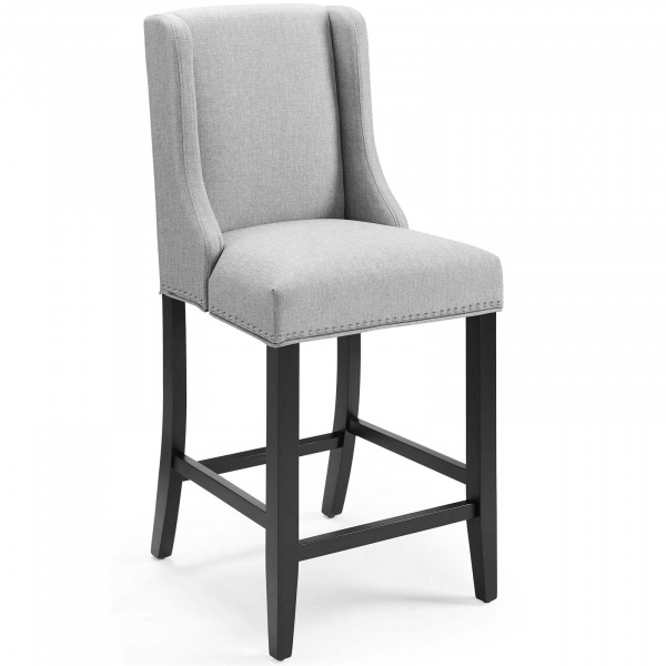 Baron Upholstered Fabric Counter Stool Light Gray