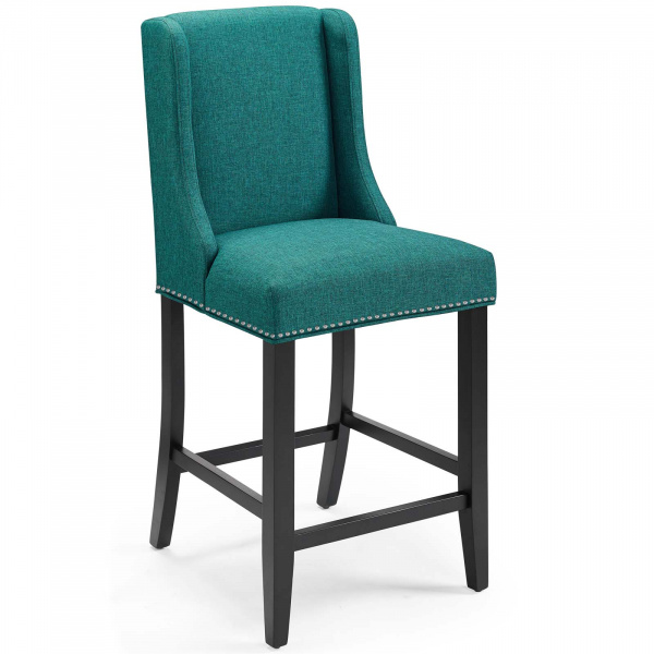 Baron Upholstered Fabric Counter Stool Teal