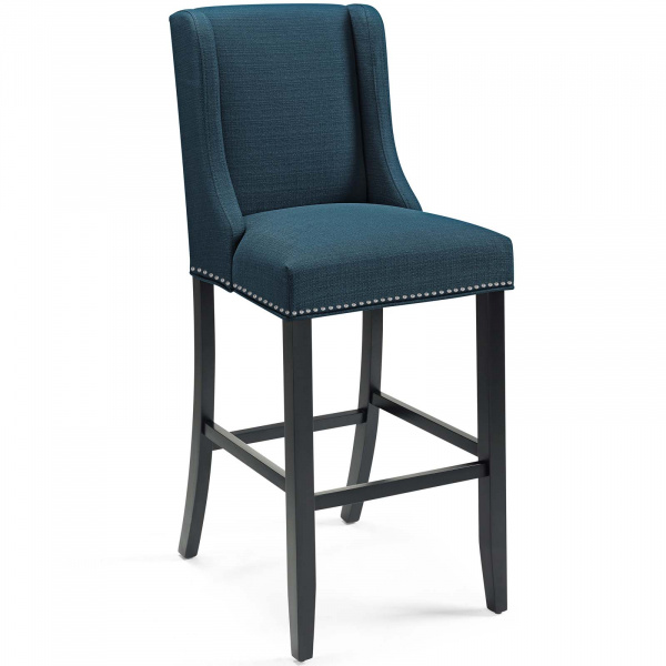 Baron Upholstered Fabric Bar Stool Azure
