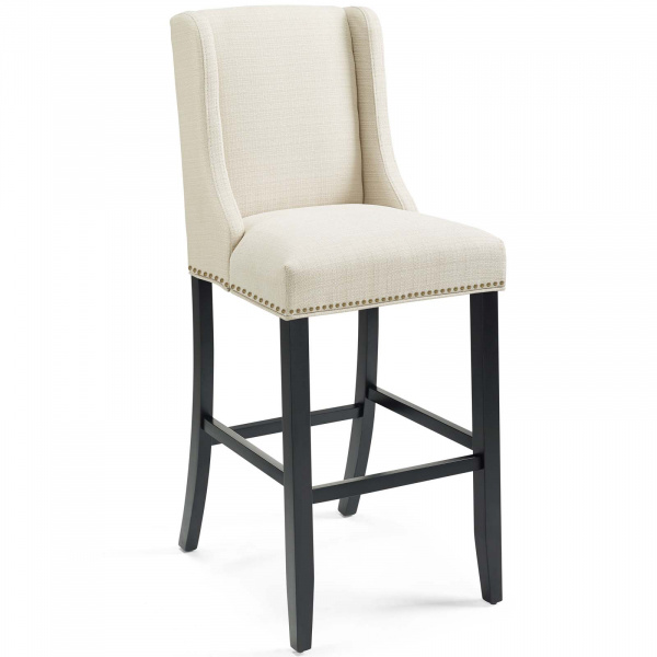 Baron Upholstered Fabric Bar Stool Beige