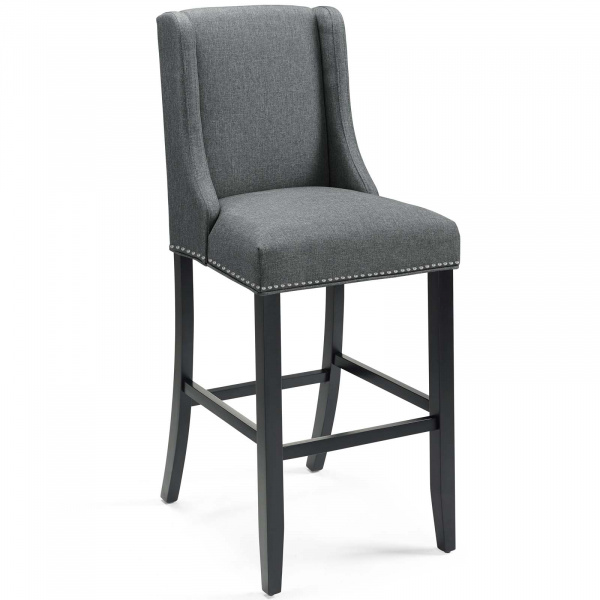 Baron Upholstered Fabric Bar Stool Gray