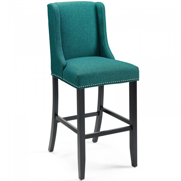 Baron Upholstered Fabric Bar Stool Teal