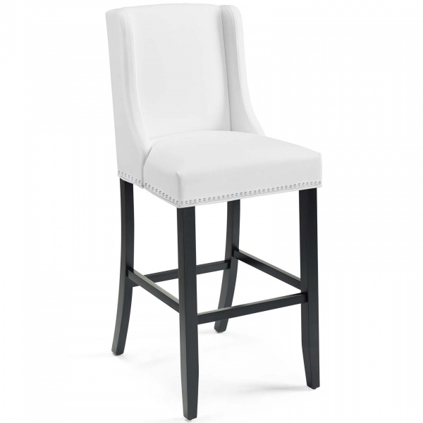 Baron Faux Leather Bar Stool White