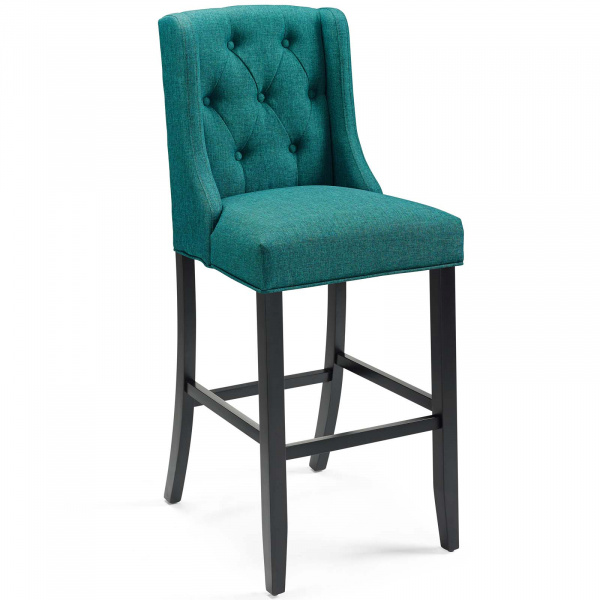 Baronet Tufted Button Upholstered Fabric Bar Stool Teal