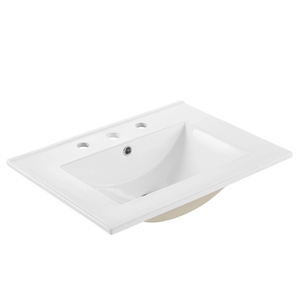 "EEI-3766-WHI Cayman 24"" Bathroom Sink White"