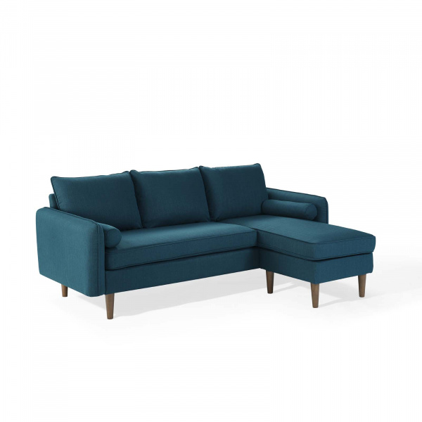 EEI-3867-AZU Revive Upholstered Right or Left Sectional Sofa Azure