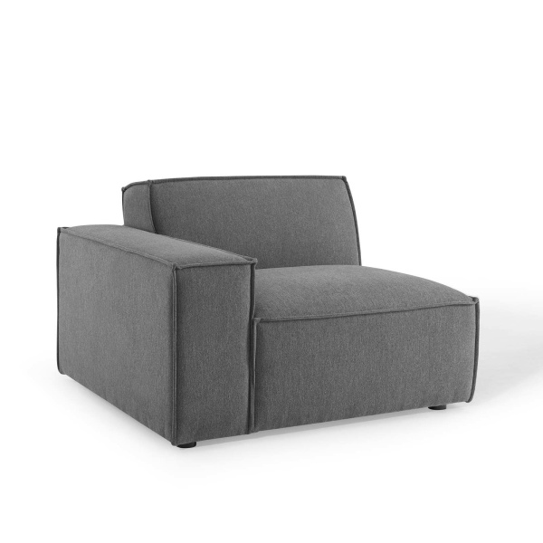 EEI-3870-CHA Restore Right-Arm Sectional Sofa Chair in Charcoal
