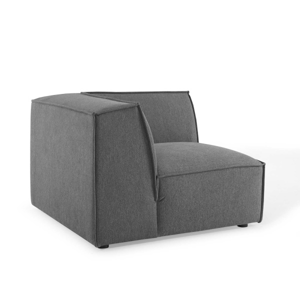 EEI-3871-CHA Restore Sectional Sofa Corner Chair in Charcoal