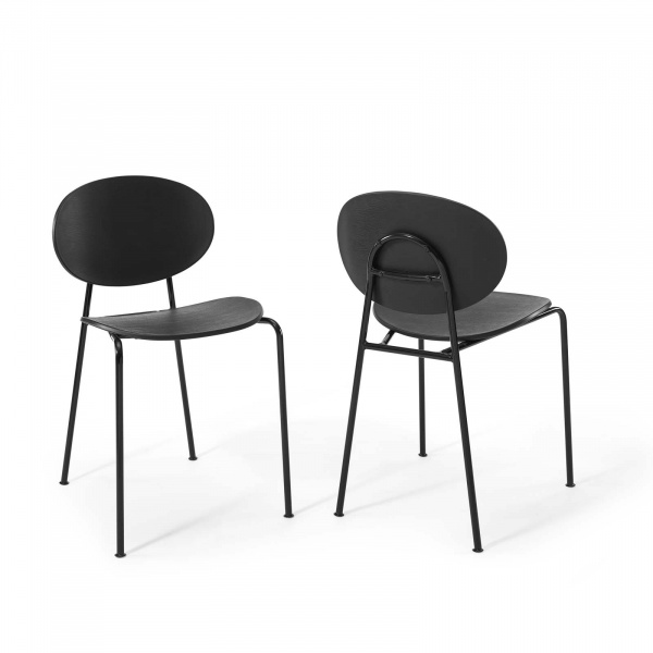 EEI-3902-BLK Palette Dining Side Chair Set of 2 Black