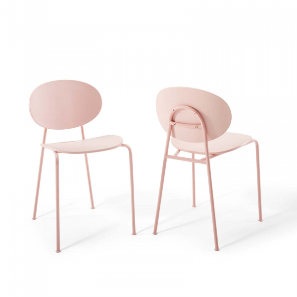 EEI-3902-PNK Palette Dining Side Chair Set of 2 Pink