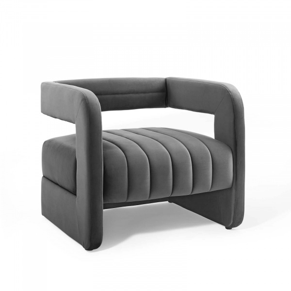 EEI-3920-CHA Range Tufted Performance Velvet Accent Armchair Charcoal