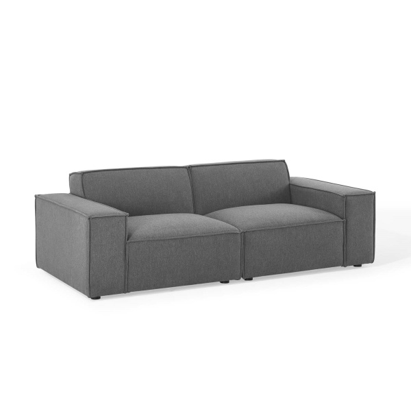 EEI-4111-CHA Restore 2 Piece Sectional Sofa in Charcoal