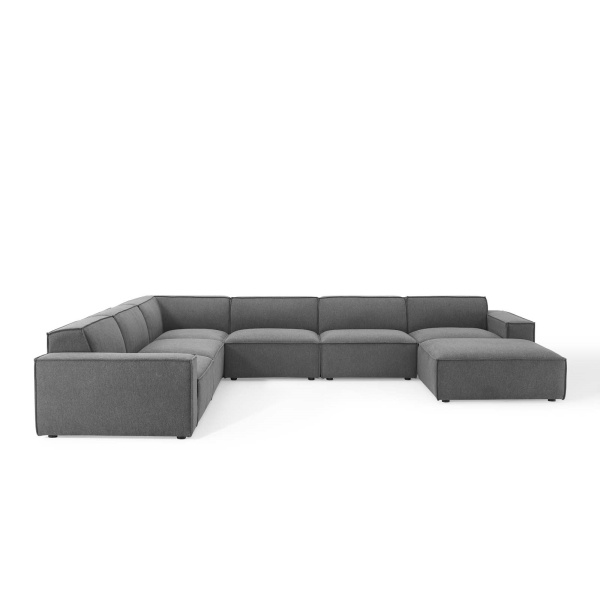 EEI-4120-CHA Restore 7 Piece Sectional Sofa in Charcoal