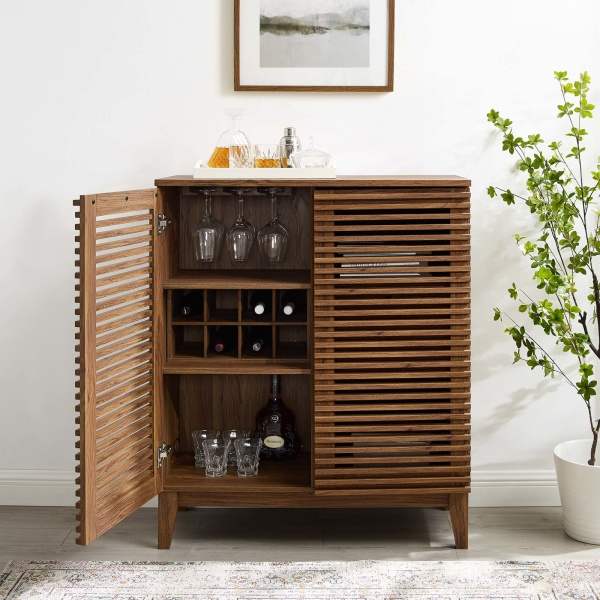 EEI-4311-WAL Render Bar Cabinet Walnut