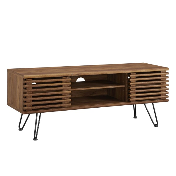 "EEI-4586-WAL Render 46"" Media Console TV Stand Walnut"
