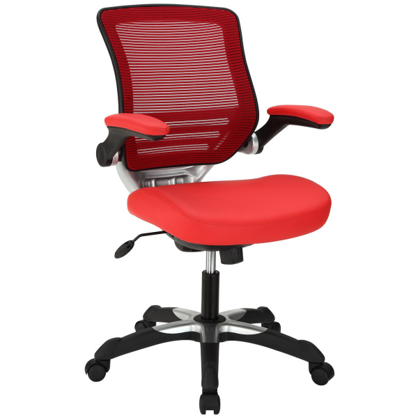 Edge Vinyl Office Chair Red