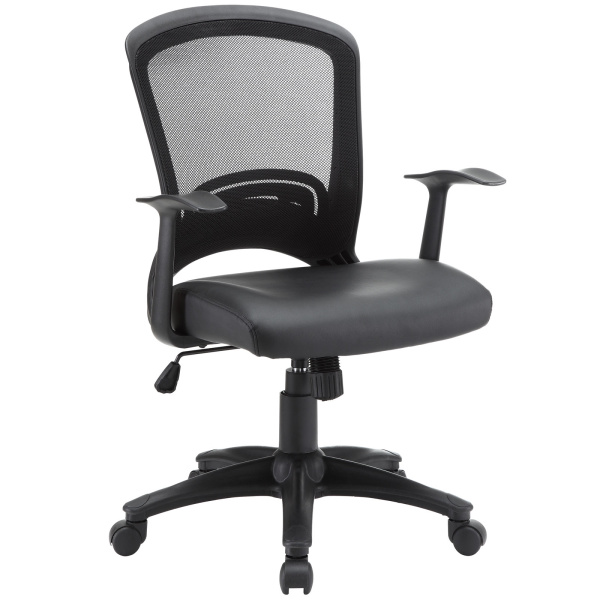 Pulse Vinyl Office Chair Black