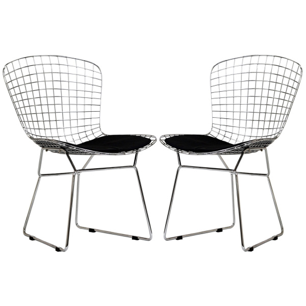 EEI-925-BLK CAD Dining Chairs Set of 2 Black