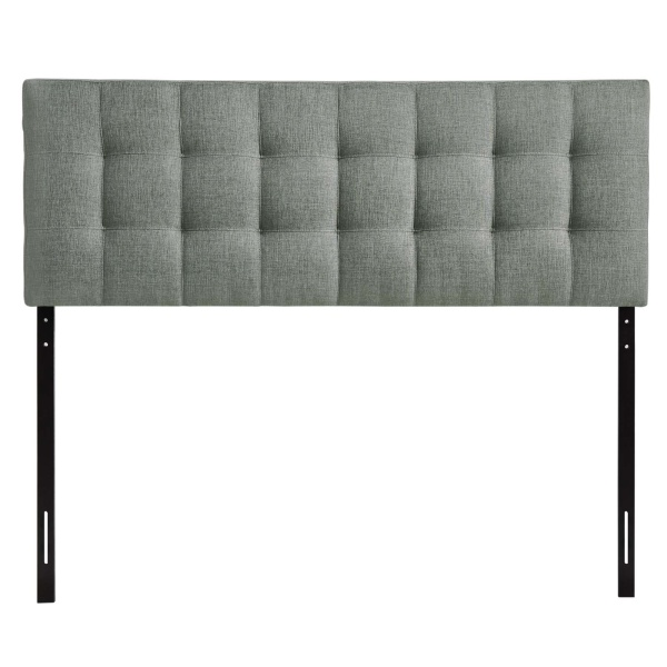 Lily King Upholstered Fabric Headboard Gray