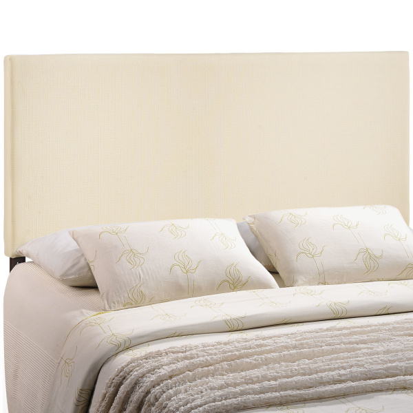 Region King Upholstered Fabric Headboard Ivory