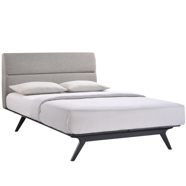 Addison Queen Bed Black Gray