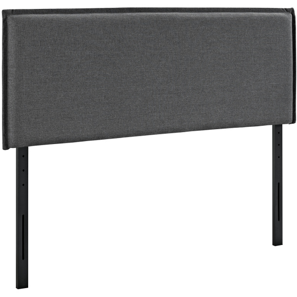 Camille Full Upholstered Fabric Headboard Gray