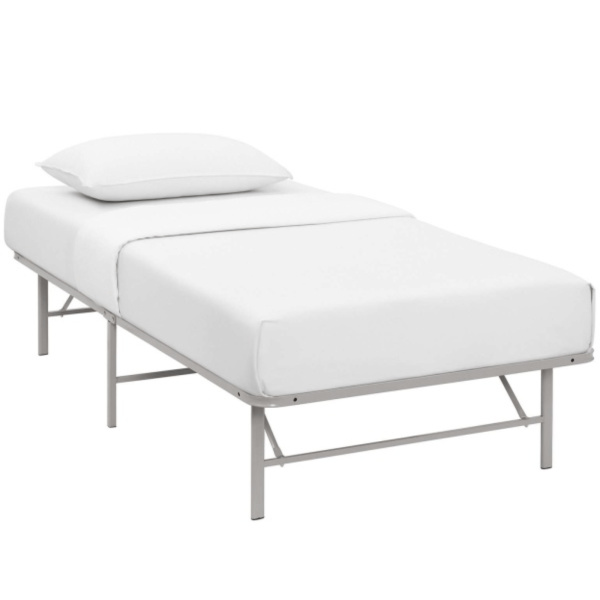 Horizon Twin Stainless Steel Bed Frame expectation Gray and white
