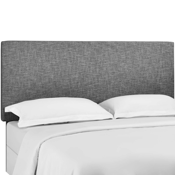 Taylor Twin Upholstered Linen Fabric Headboard Light Gray