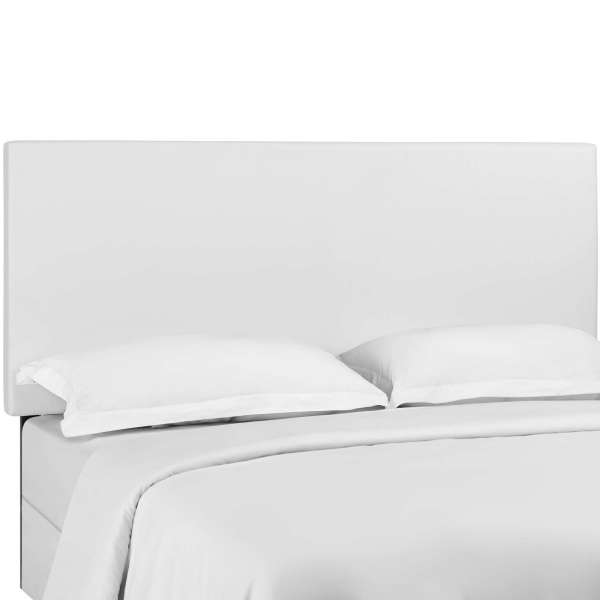 Taylor Twin Upholstered Faux Leather Headboard White