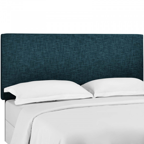 Taylor King and California King Upholstered Linen Fabric Headboard Azure