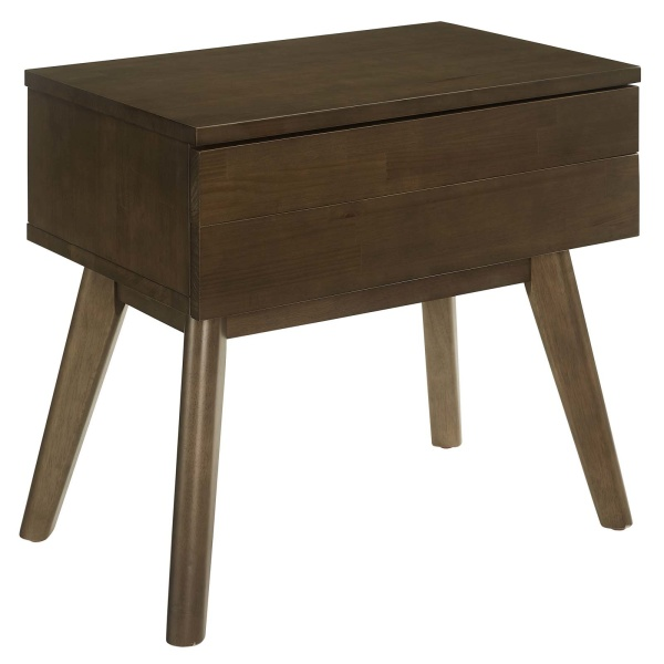 Everly Wood Nightstand Walnut