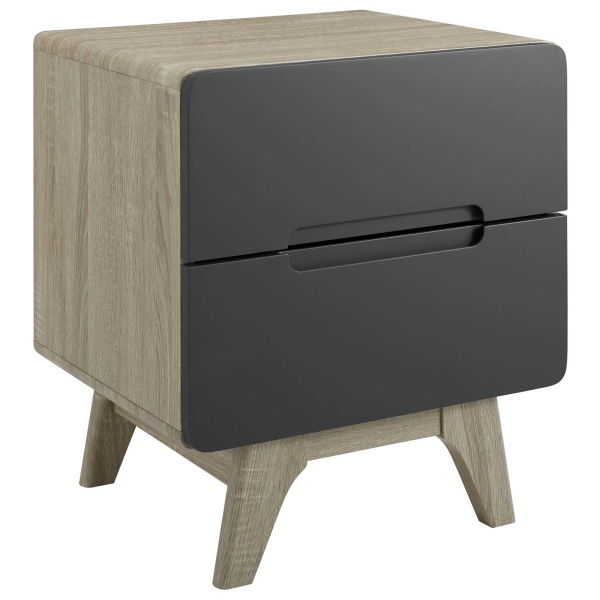 MOD-6073-NAT-GRY Origin Wood Nightstand or End Table Natural Gray