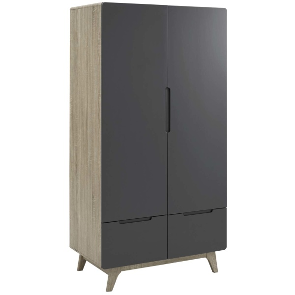 MOD-6077-NAT-GRY Origin Wood Wardrobe Cabinet Natural Gray
